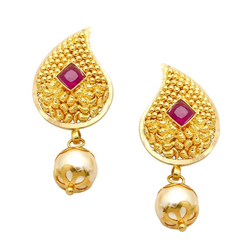 gold earrings affluent gold earring mbrupja