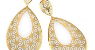 gold earrings paige star cutout drop earrings ... iflrhbe