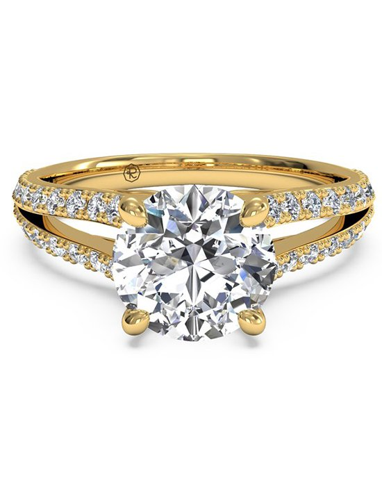 gold engagement rings ritani. double french-set diamond u0027 ... qdnwkgo