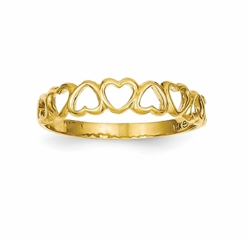 gold heart ring 14k gold heart band ring $129.00 szunude