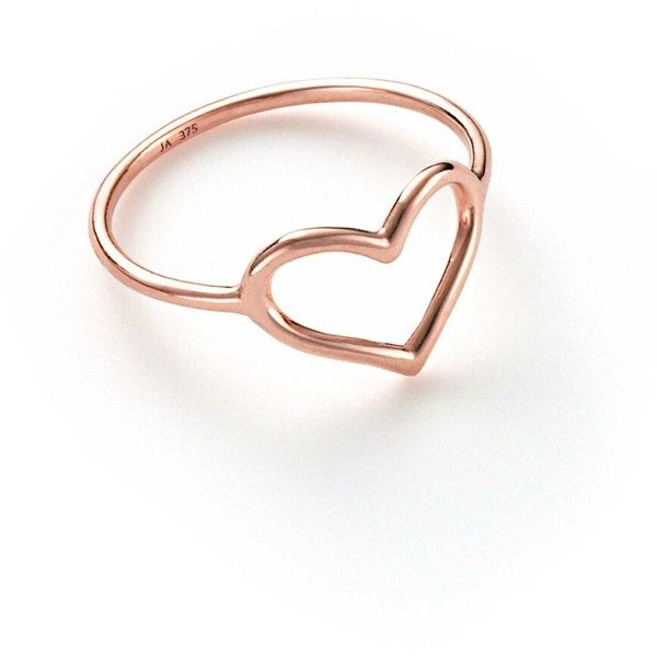 gold heart ring jordan askill heart ring - rose gold ($245) ❤ liked on polyvore featuring  jewelry ifpdrwj