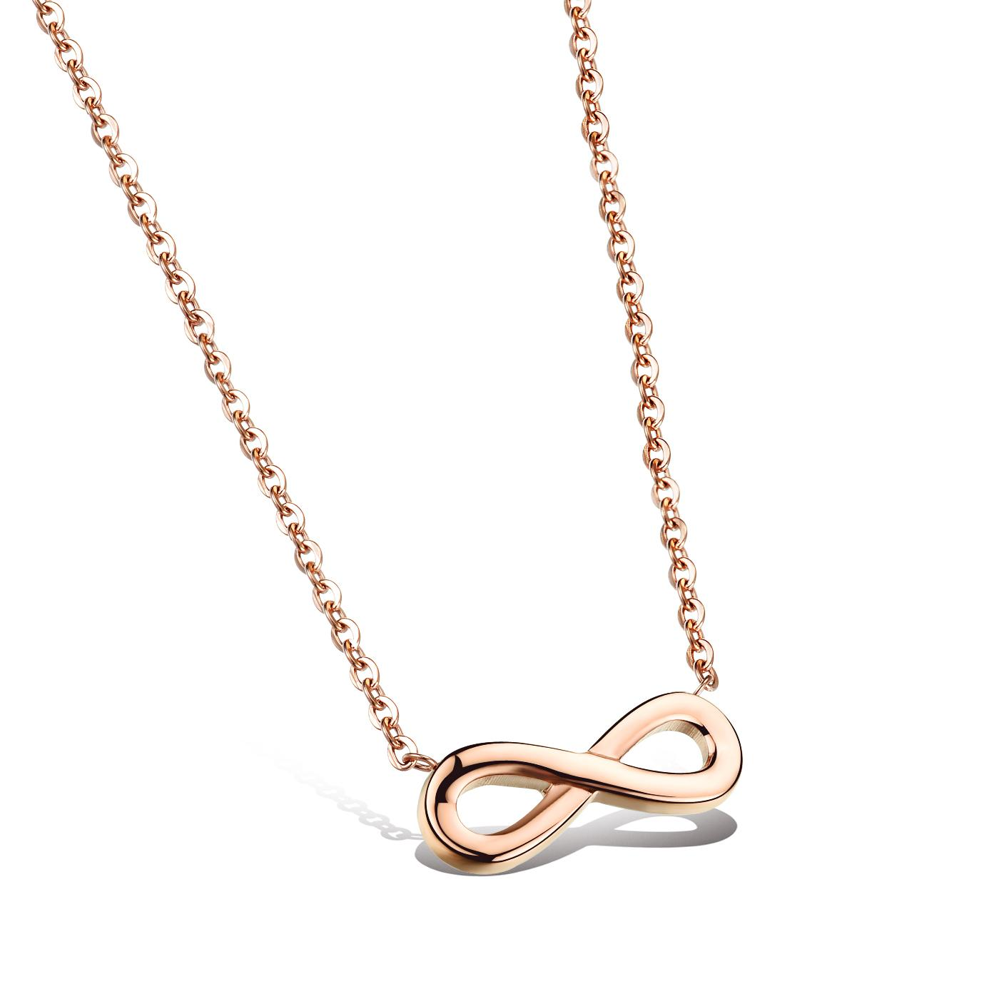 gold necklace for women fashion simple rose gold infinity symbol pendant necklaces women chain  infinity charms necklace eternity ktthfqh