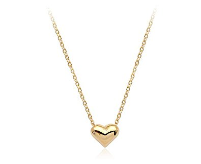gold necklace for women simple small smooth heart pendant necklace fashion jewelry for women (gold) rtmjyfl