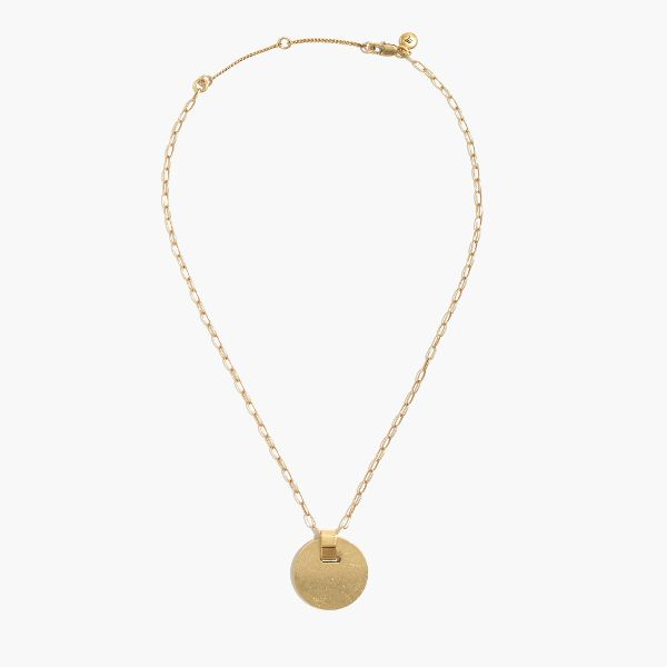 gold pendant necklace madewell cymbal pendant necklace ($45) mmggnhn