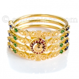 gold rings for women gold ring with enamel 22k size 7-0 gfuraif