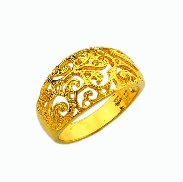 gold rings for women vintage gold ring yellow gold 24 k vacuum plated chinese style trendy rings  for neahbvb