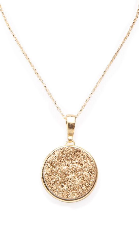gold round pendant necklace by marcia moran http://www.charleskoll.com xbfloai