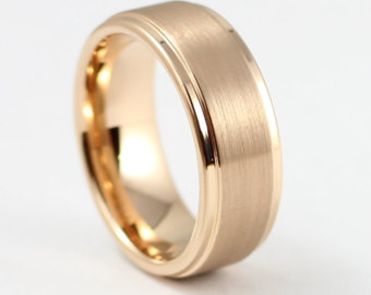 gold wedding bands beautiful rose gold menu0027s wedding band, 8mm, menu0027s ring, tungsten carbide  ring, qlbrjix