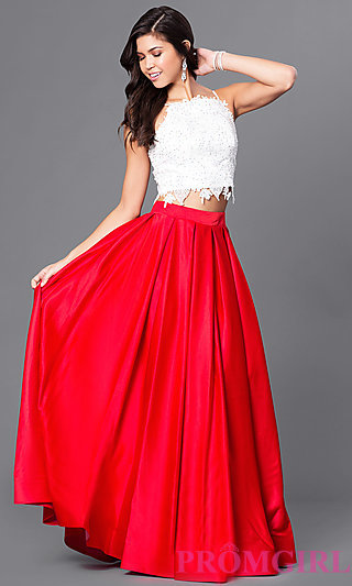 gown dresses dave and johnny two piece ball gown-promgirl cotadyz