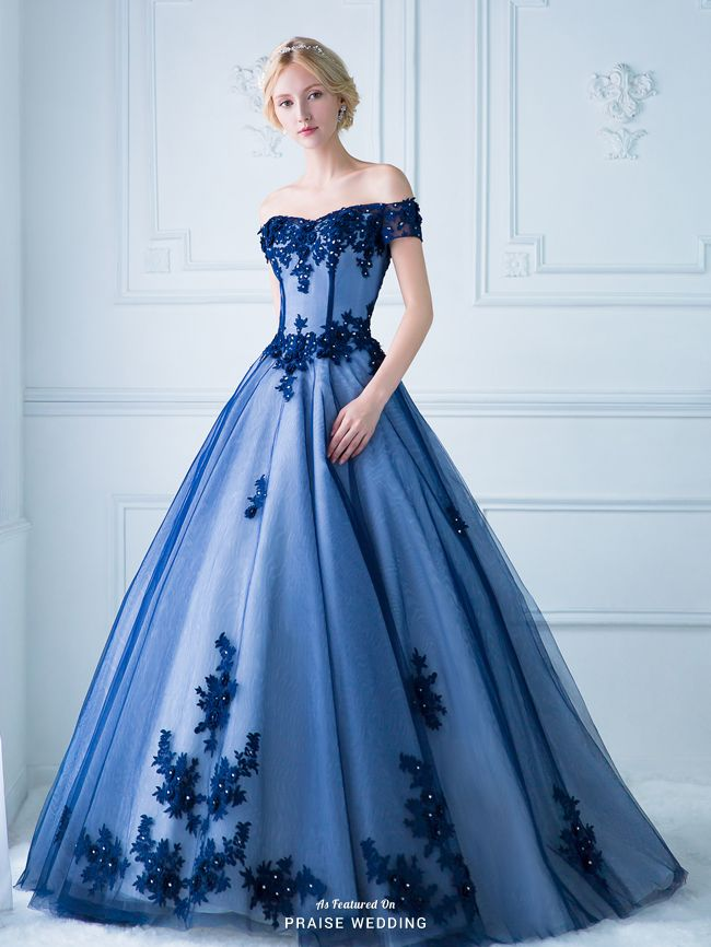gown dresses this statement-making royal blue gown from digio bridal featuring  ultra-chic lace detailing vmoragw