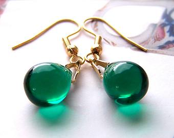 Green Earrings Etsy Ooollbq