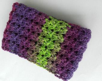 green scarf infinity scarf, circle scarf, wool cowl, eternity scarf, stripe scarf, long twwrbib