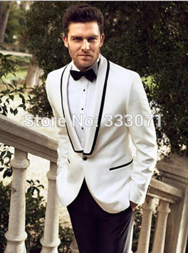 grooms suits custom tailor 2015 white groom suits groomsman tuxedos slim fit best man  bridegroom men kndphna