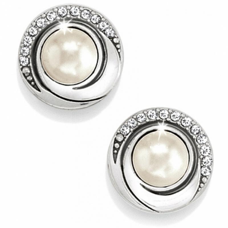 groovy groovy pearl post earrings twcympi