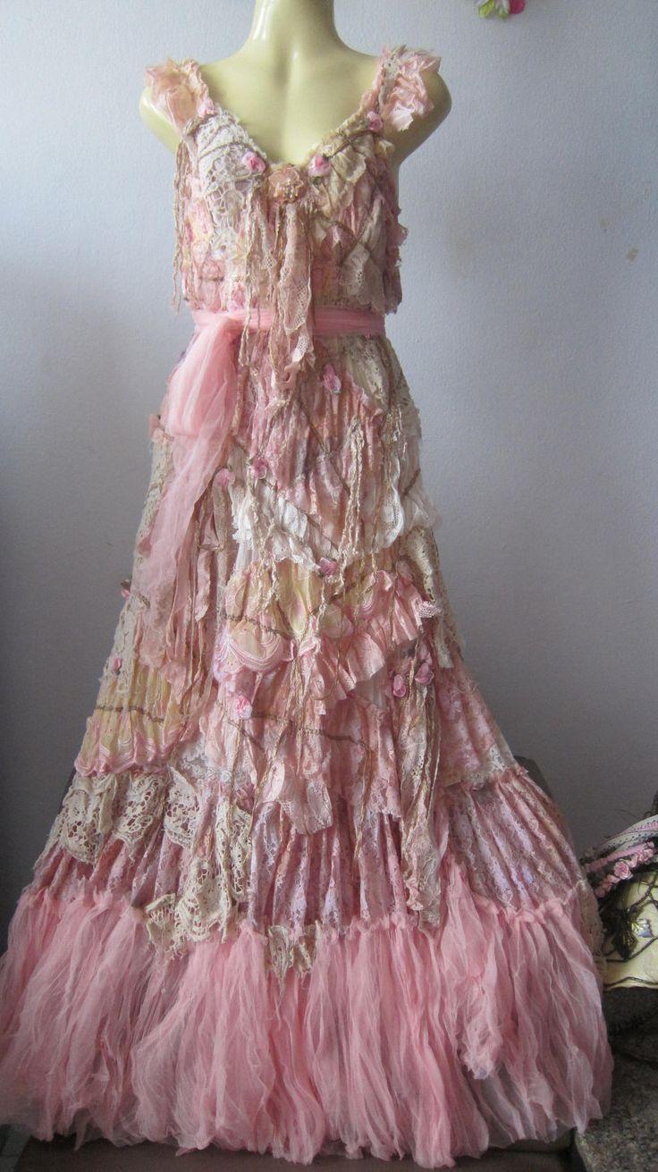 gypsy dresses reserved..she has stories to tell...vintage inspired shabby bohemian gypsy  dress vxalaet