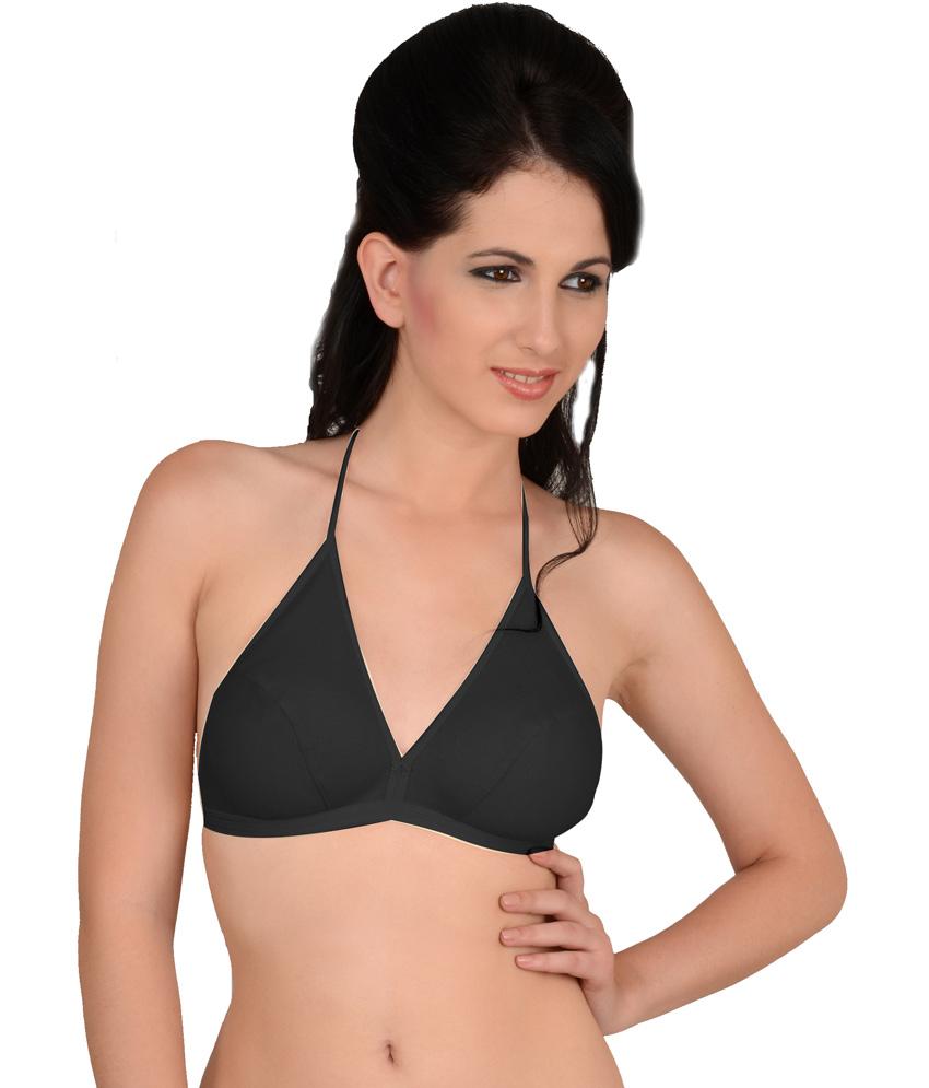halter neck bra ... softskin multi color cotton halter bras bra pack of 3 ... bsbduff