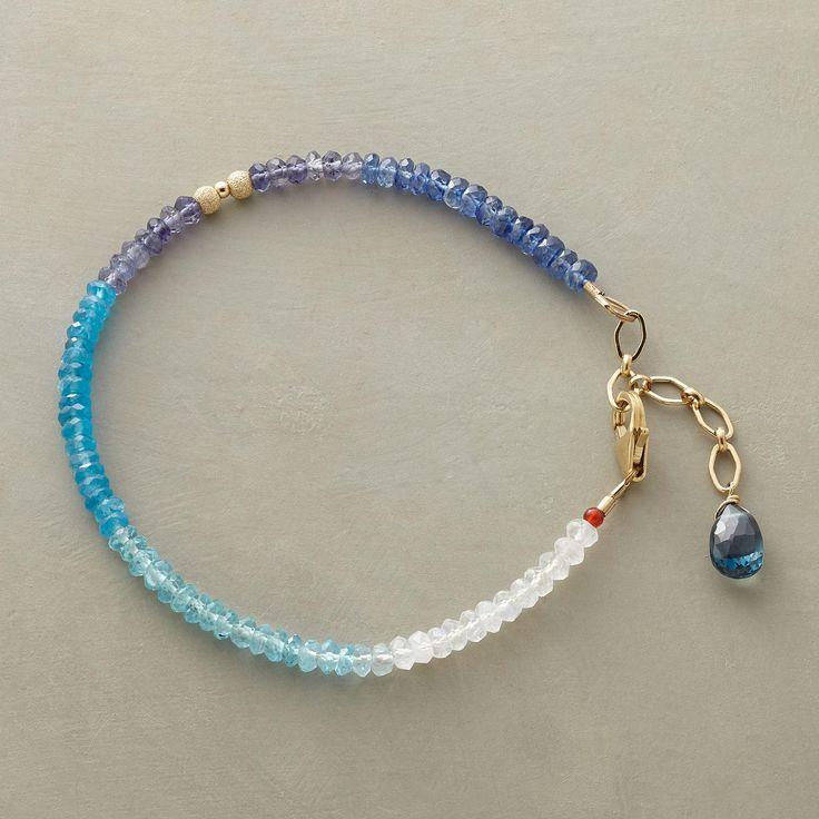 handmade bracelets adriatic bracelet -- thoi vo brightens sea blue gemstones with moonstone   wzocila