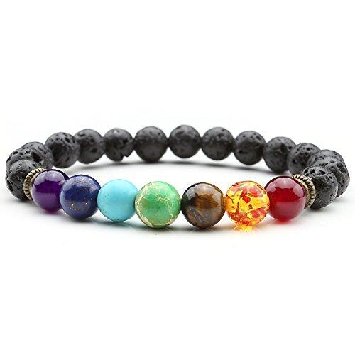 handmade bracelets top plaza men women 8mm lava rock stone 7 chakra bracelet black healing  energy lkzswtn