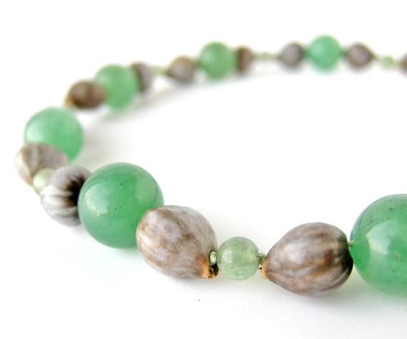 handmade jewelry handmade green aventurine necklace - aventurine tears ulqomnc