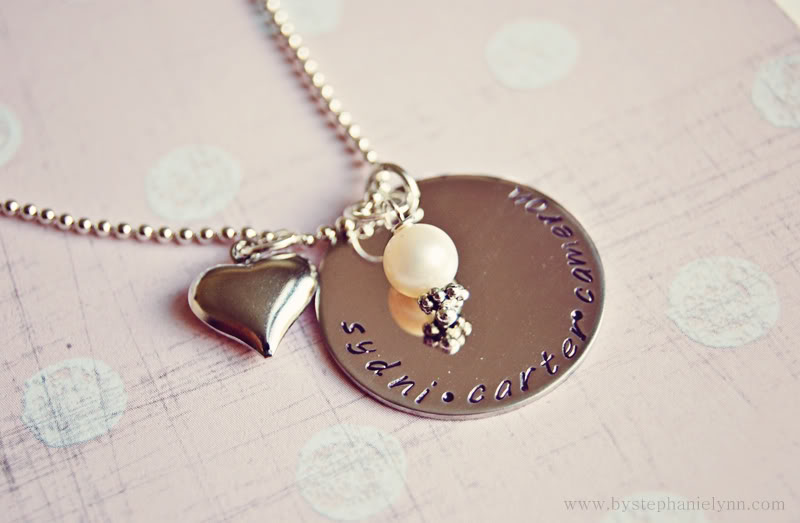 handstamped personalized necklaces for just $13.50 {groopdealz} pmsoqlv