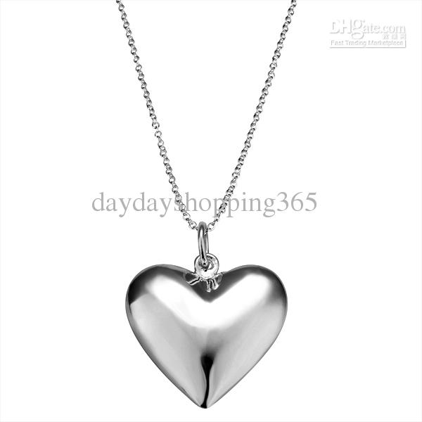 heart pendant necklace jewerly heart pendant 925 silver pendant roll chain necklace nn055 heart  925 silver necklace lsmpaeu