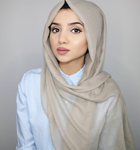 hijab style for triangular face akzpfbx
