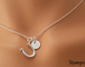 horseshoe necklace, horse shoe necklace, horseshoe charm, horseshoe  pendant, horse shoe charm kqmlgqt