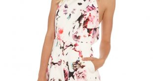 illuminati floral playsuit in white zkjnkrm