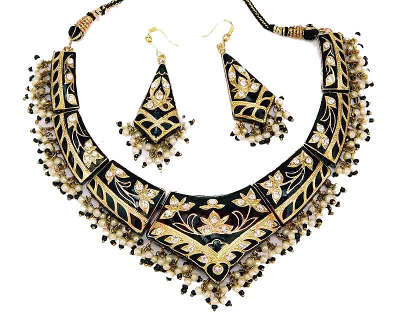 indian fashion jewelry indian fashion jewellery necklace and earrings from venkatraman jewels of  jaipur india. aiggobo