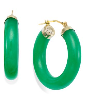 jade earrings jade hoop earrings in 14k gold (27-1/2mm) vuoiuqi