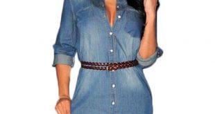 jean dress summer 2016 denim dress jeans women vintage dresses casual shirt dress sexy  party denim kyshbmr
