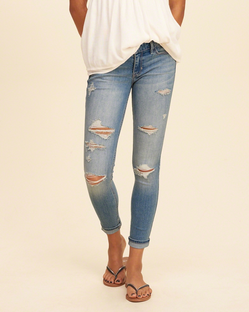 jeans for girls low-rise crop super skinny jeans fsxpmtt