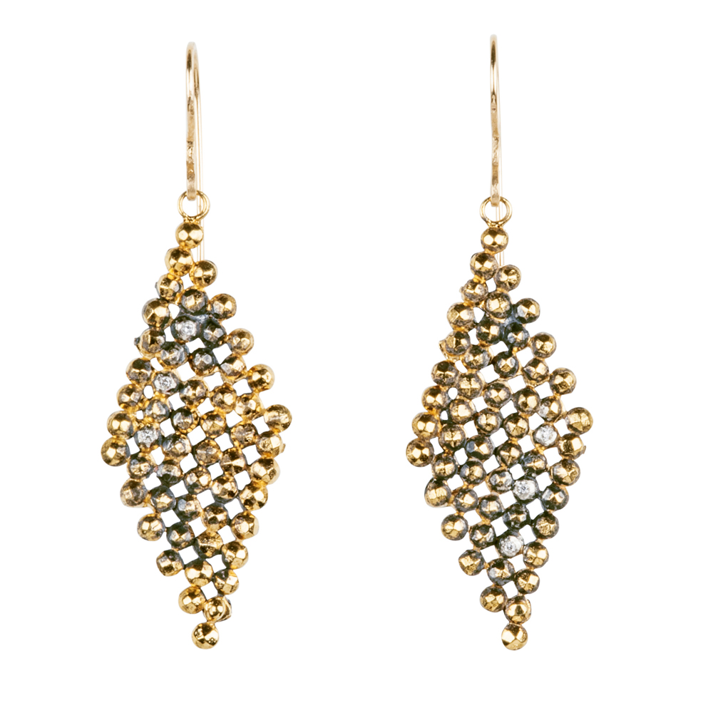 jenne rayburn | faceted diamond dangle earrings avdxsec