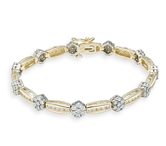 jewelry bracelets borrow special occasion jewelry: rosette diamond bracelet | rental price -  $160.00 ojvidpl