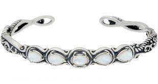 jewelry bracelets carolyn pollack sterling silver simply fabulous gemstone cuff bracelet -  j335283 liiimwa