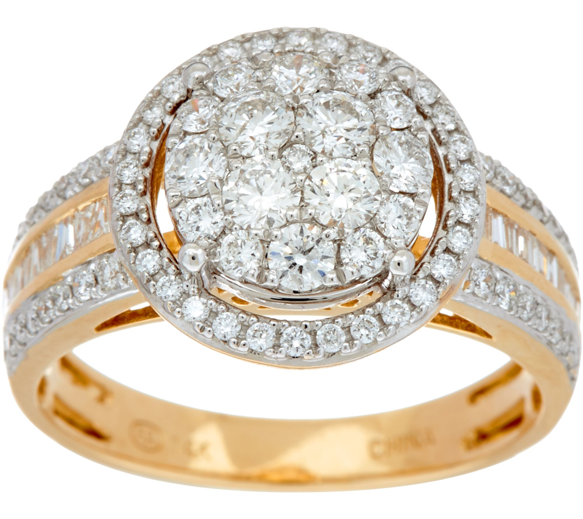 jewelry rings 1.00 cttw round cluster diamond ring 14k gold by affinity - page 1 - qvc.com ohngexa