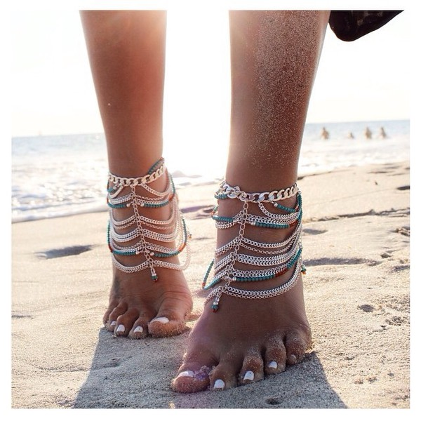 jewels: anklet, boho, gypsy, ankle jewelry, boho jewelry - wheretoget QJTHLKL