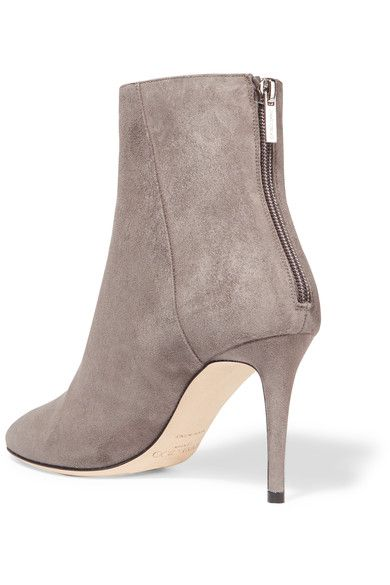 jimmy choo - duke suede ankle boots - light gray zpwgzti