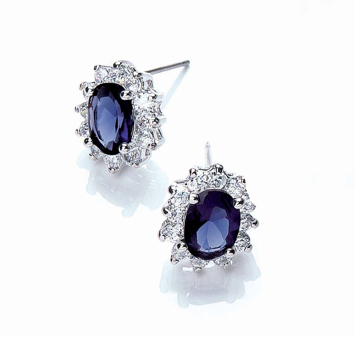 katherine royal blue earrings TFKBQQA