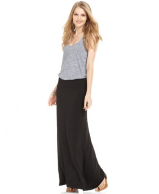 kensie solid knit maxi skirt gnmxgps