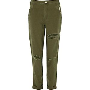 khaki trousers khaki green distressed trousers kxjixwo