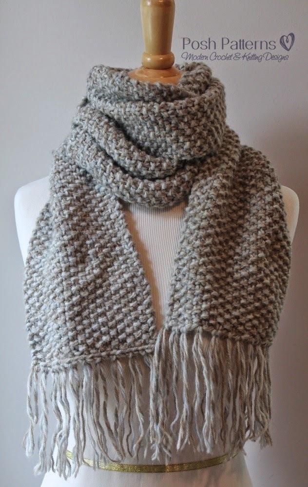 knit scarf elegant seed stitch scarf | allfreeknitting.com rympndw
