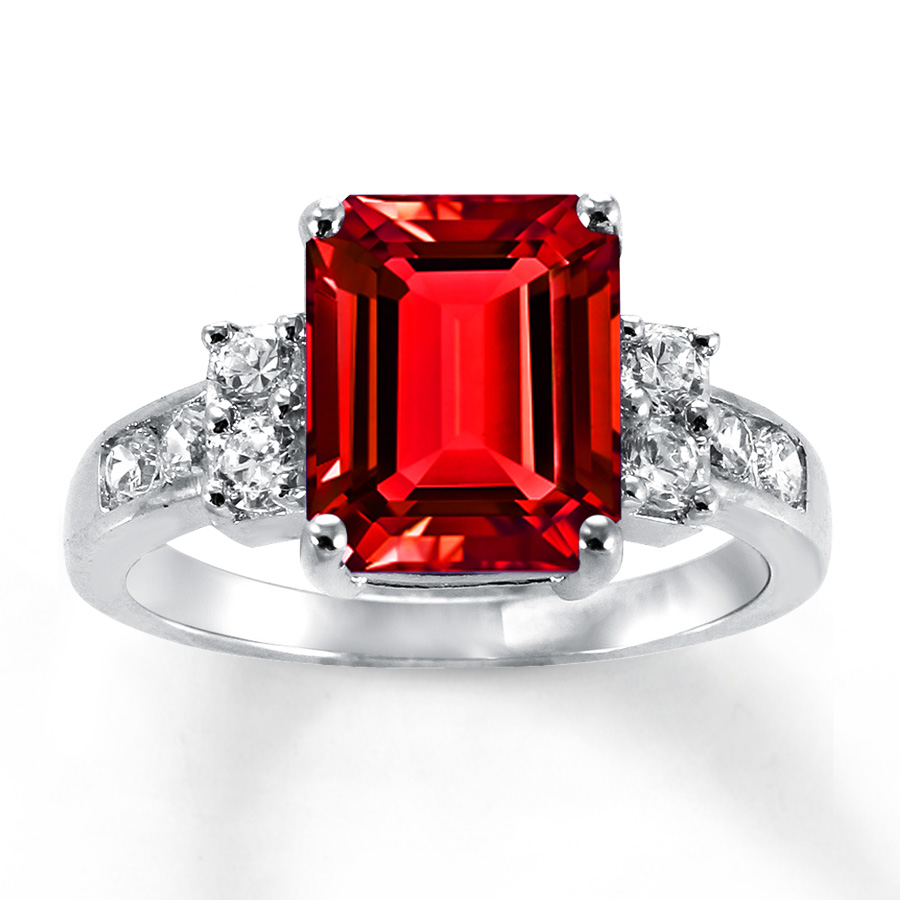 lab-created ruby ring lab-created sapphires sterling silver hspwdgp