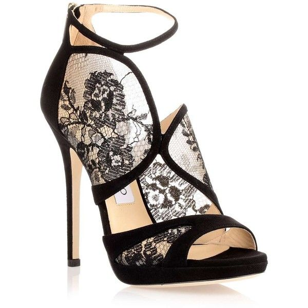 lace heels jimmy choo flyte black suede lace sandal found on polyvore dgmupde