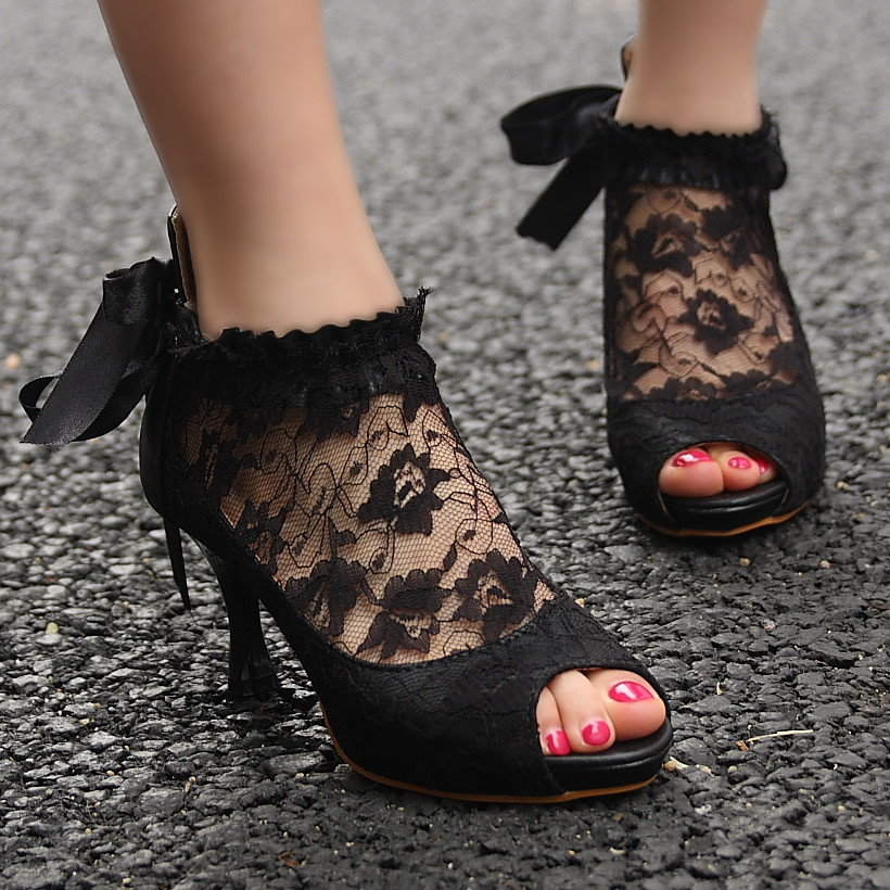 lace heels no-name wufdims