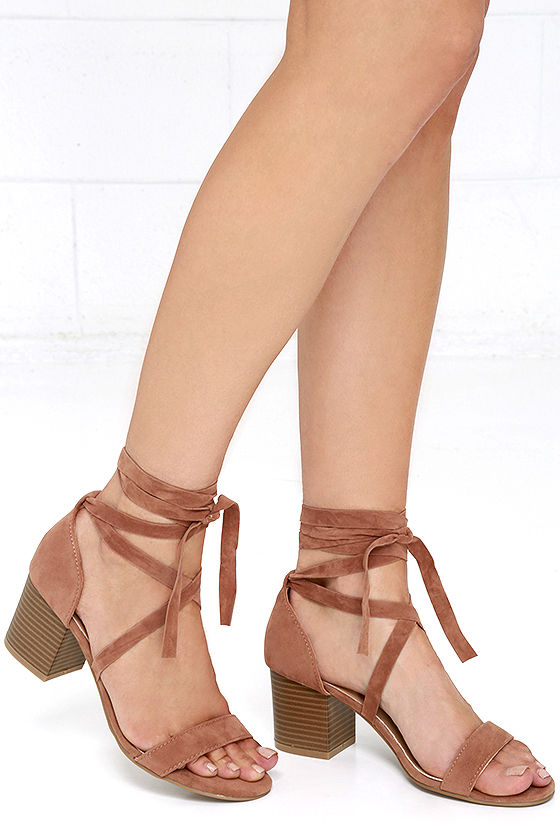 lace heels this moment camel suede lace-up heels 1 eeablor