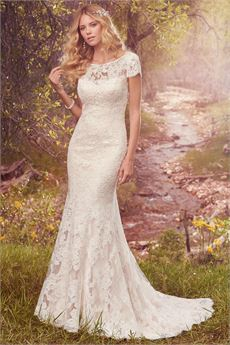 lace wedding dress hudson/ hudson marie supcghf