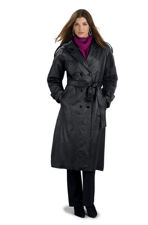 ladies trench coat ladies classic double breasted leather trench coat gpjxxho