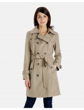 ladies trench coat sandra classic double breasted trench coat with detachable hood wcmqgbm