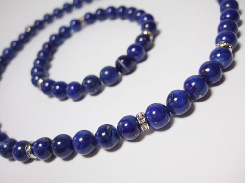 lapis jewelry enhanced by clear crystal spacer beads pzbhpjz